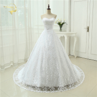 Cheap Price Good Quality 2014 New Free Shipping Beading Sweetheart Lace Belt A Line White Ivory