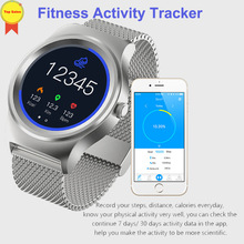 Купить с кэшбэком smart wirstWatch Heart Rate Monitor watch 1.28'' full round color screen tracker men watch for IOS Android  sports smartwatches