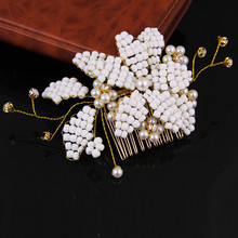 Wholesale New Headbands For Women Fashion Hairwear Wedding Head Jewelry Hearts Alloy Rhinestone Bride Hair Combs Accessories