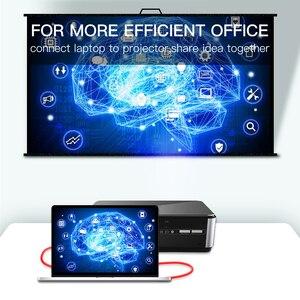 Image 3 - Treccia di Nylon Cavo HDMI 1m 2m 3m 5m 10m 15m 20m cavo hdmi 4k 1080P 3D per HDTV PS4 Xbox Proiettore Del Computer Portatile Del Computer
