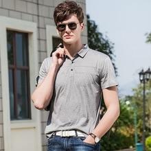 2019 New uomo 100% Cotton mens polo shirts with short sleeve lapel polos Anti-Wrinkle Sweatshirts chemise Polos men homme