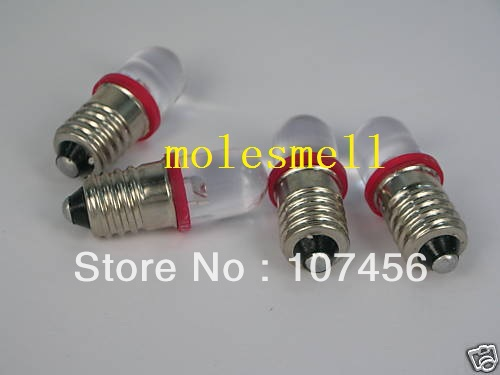 Free Shipping 50pcs Red E10 12V Led Bulb Light Lamp For LIONEL 1447