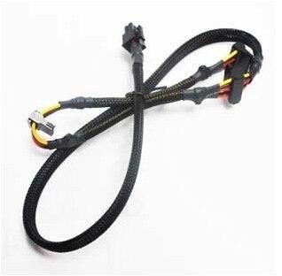 Modular PSU 6pin a 3 Puerto SATA cable de alimentación 18AWG alambre 80 cm para antec NP TP Serie ECO