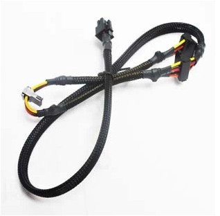 Modulare NETZTEIL 6pin auf 3-port SATA power kabel 18AWG draht 80 cm für Antec NP TP ECO serie
