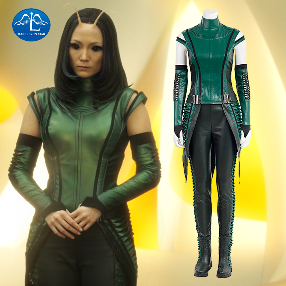 MANLUYUNXIAO Guardians of The Galaxy 2 Cosplay Costume Mantis Cosplay Costume Women Full Set Mantis Costume For Halloween