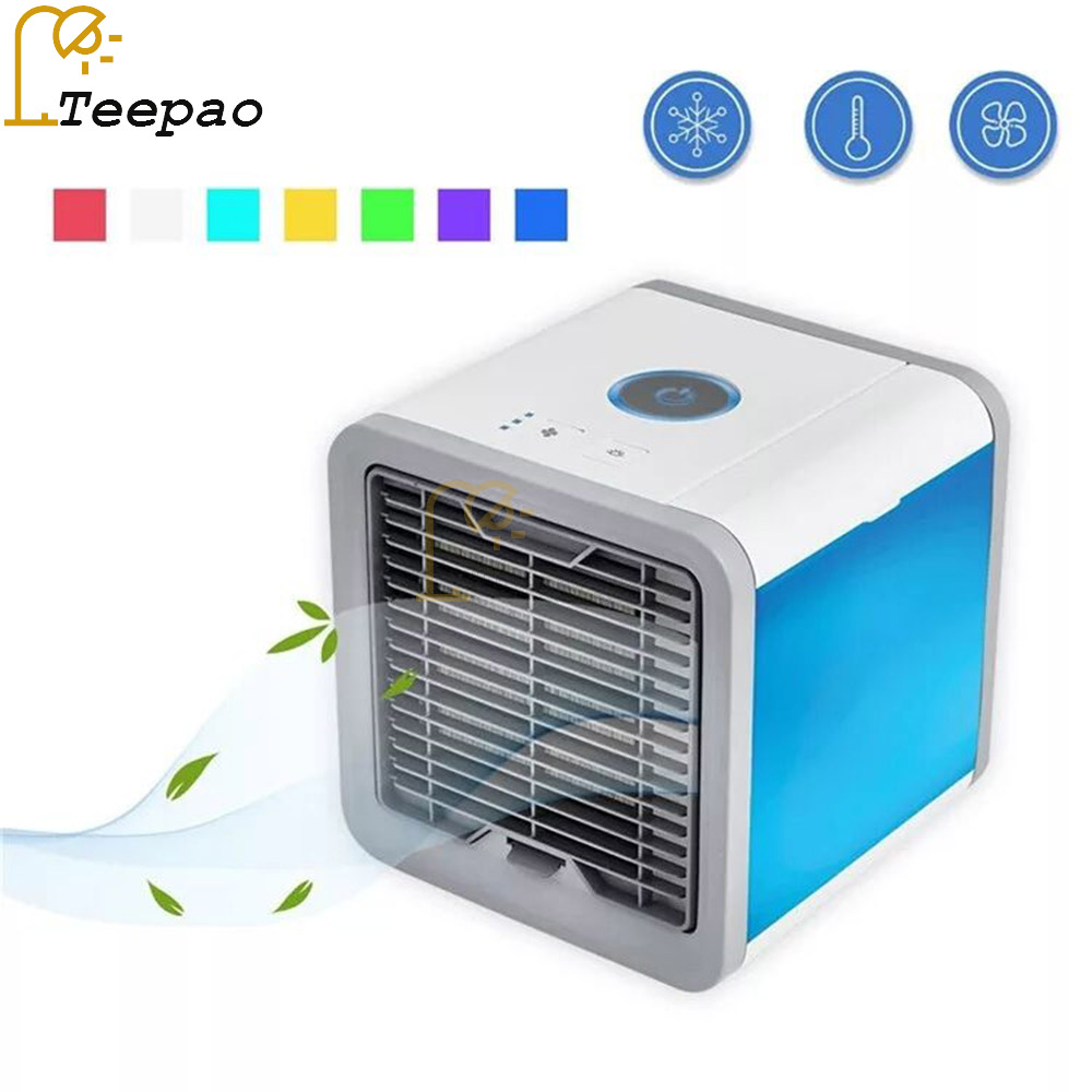 USB Artic Air Cooler Fan Personal Space Cooler Portable Desk Fan Mini Air Conditioner Device Night light