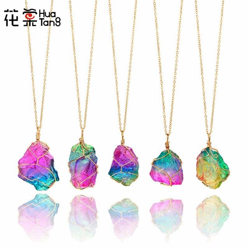 Declaración de mujer de plata oscuro púrpura Collar Cadena Diamante Cristal De Imitación