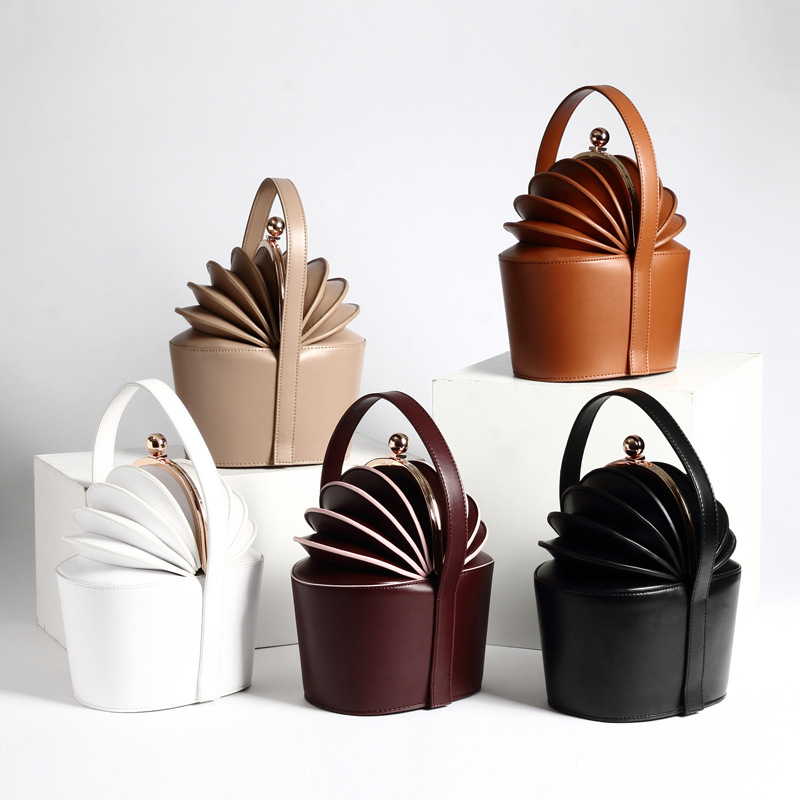 Women Handbags Bucket Cowhide Bags Genuine Cow Leather Luxury Bag Famous Organ Design Flower Basket High Quality Female Totes lunch bag neoprene large gourmet lunch tote insulated waterproof lunch bags with zipper cooler handbag for women kids baby girls