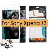 Original For SONY Xperia Z3 LCD Display Touch Screen with Frame for SONY Xperia Z3 Dual Display LCD D6633 D6603 Replacement