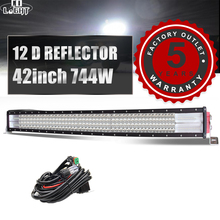 CO LIGHT LED Light Bar 42 744W 12D Work 4-Rows Offroad Led for 4x4 Trucks ATV Jeep Car Boat Auto Driving Lights