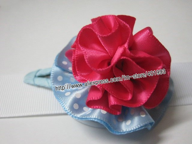 Petal Flower snap Clip bows for baby hair flower