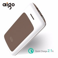 Aigo 20000mAh Power Bank Fashion Stripe Design Large Capacity With Dual USB Ports Mobile Battery Charger