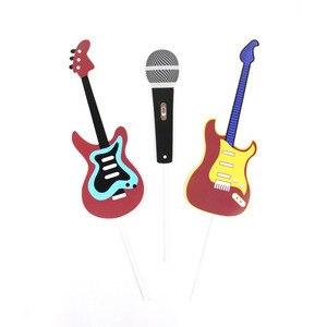 Image 5 - Rock Thema Party Photo Booth Props 18 stk/set voor Verjaardag Feestartikelen Music Party Vibes Rock & Roll Concert Foto prop