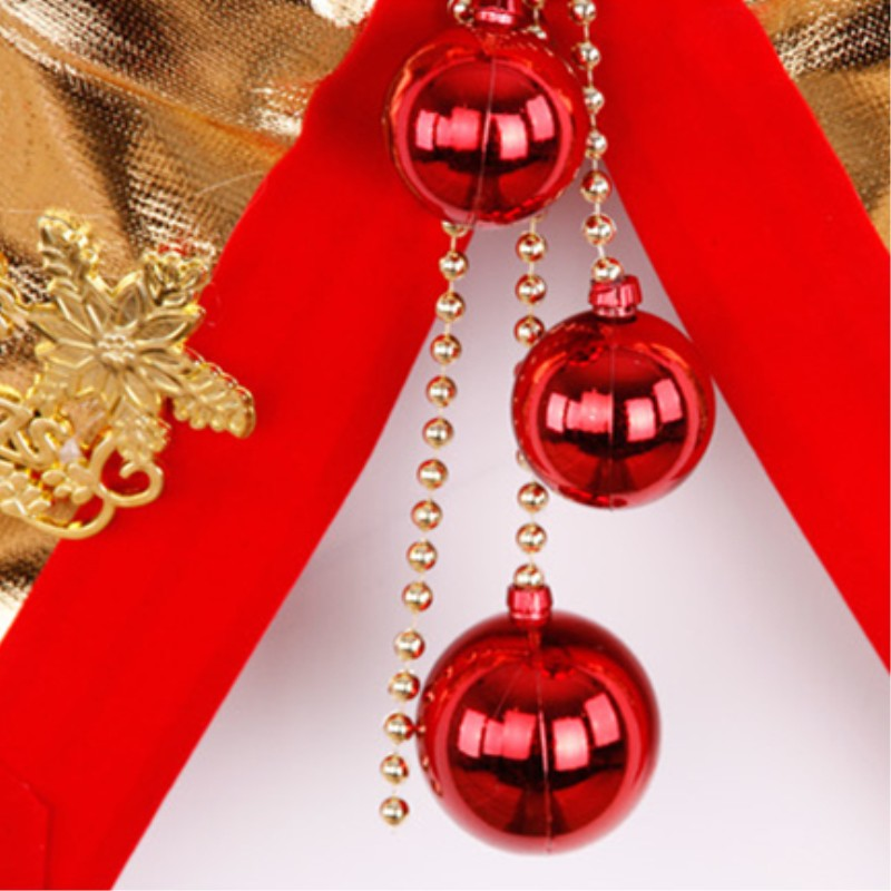 New year gold bow large Christmas tree decorations gifts home hotel shop wall door column window ornaments