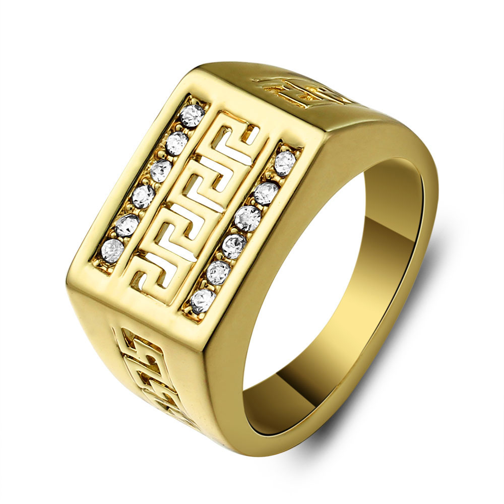 Sz 8 12 Mens Ring Anel Aneis Vintage Jewelry Yellow Gold Filled ...
