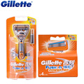 Original Gillette Fusion Power Electric Shaving Razor Blades 1 Handle + 5 Blade For Men Beard Shaver