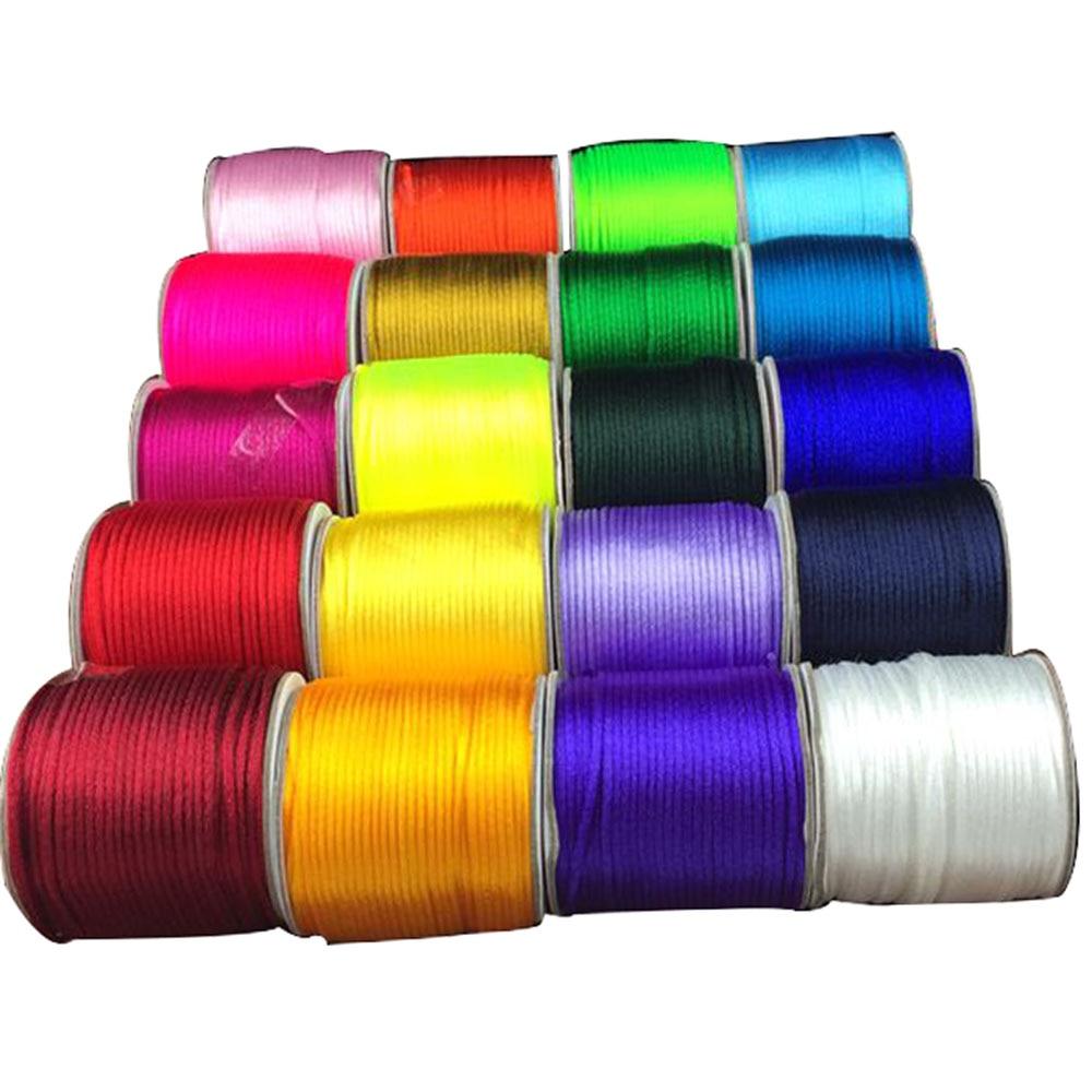 10pcs 1//2mm Satin Silk Nylon Cord String Beading Jewelry Making 6//4m Colorful