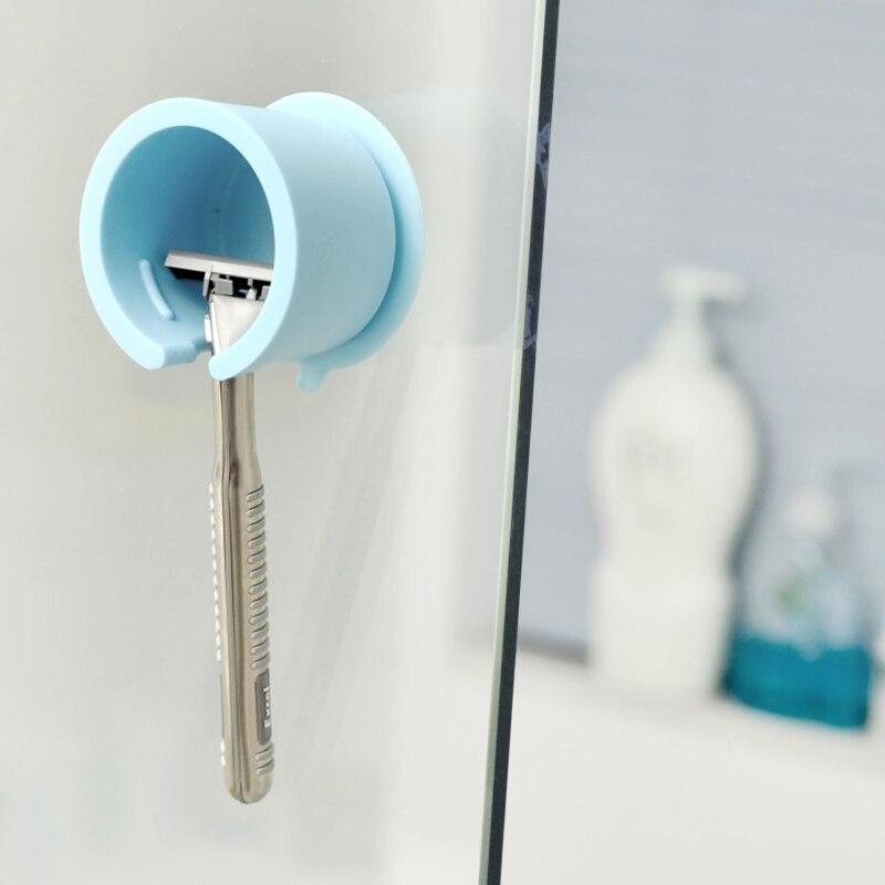 Eonline New Safety Razor Stand Wall Suction Toothbrush Holder Shaver Cap  Holder Bathroom Shower Organizer Box Shaver Holders On Aliexpress.com |  Alibaba ...