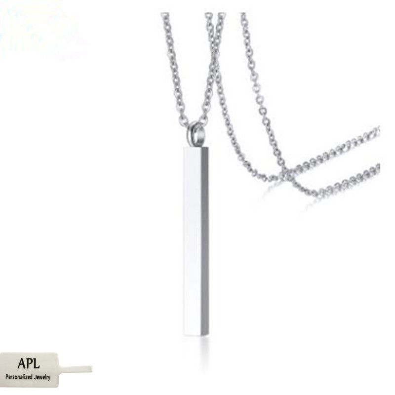 APL jewelry wholesale new stainless steel silver perfume bottle Pendant Square Square Pendant female jewelry in Pendant Necklaces from Jewelry Accessories