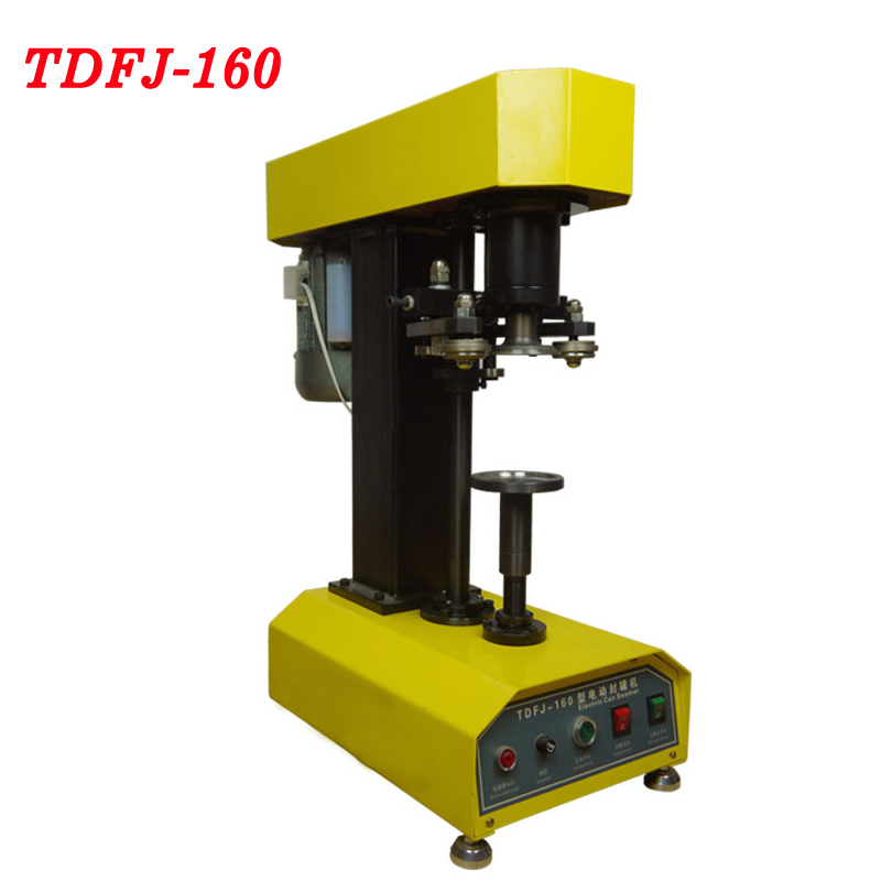 цена на 220V TDFJ-160 Desk-top automatic container capping machine cans seal machine paper cans PET plastic tank cover pot metal machine