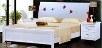 high quality bed Oak Bedroom furniture bed solid wood bed 3995