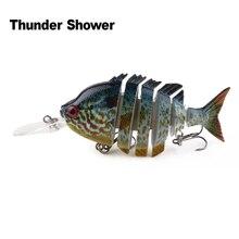 ThunderShower 1PCS Swimbait Depth Diving Jointed Lures Exhausting Bait Bass Pike Lifelike Fishing Wobblers 10CM 12.7G