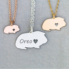 Personalized Guinea Pig Necklace Guinea Pig Gift Cute Pet Unique Gifts Jewelry Animal Pendant Dropship Accepted