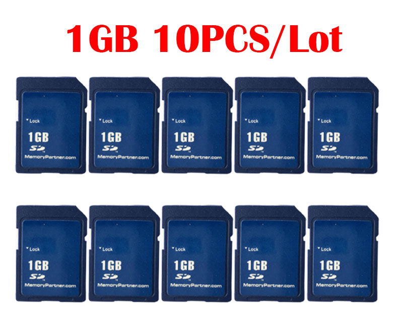 10pcs/Lot SD Card 1GB/2GB Carte SD Memory Cards Wholesale China Supplier Cheap High Quality For Free Shipping