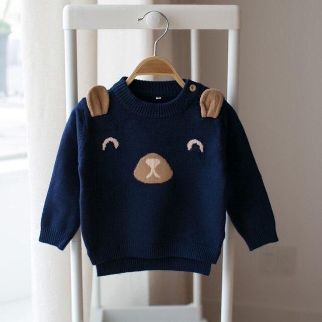 Новый 2017 весной и осенью детский мультфильм свитер мальчик девочка ребенок шею вязать свитер