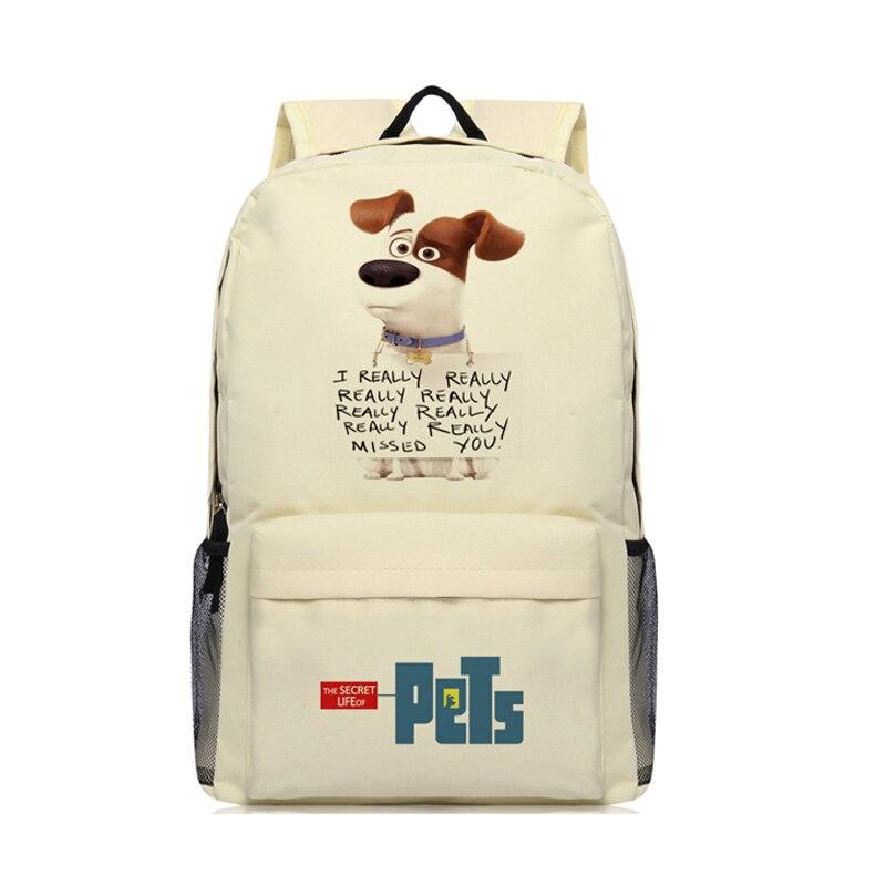 Zshop Cute Cartoon Children School Bag The Secret Life of Pets Backpack Jack Russell Ter ...