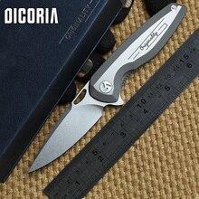 Dicoria maker 2 d'origine tactique roulement à billes flipper pliage couteau vg-10 lame tc4 titanium poignée camp chasse couteaux edc outils