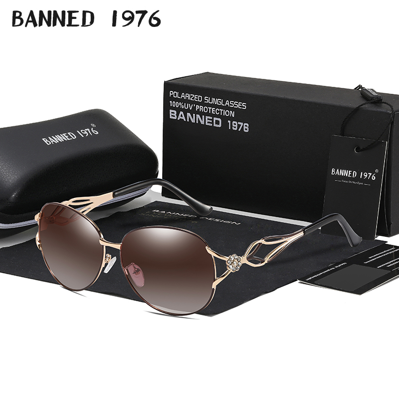 BANNED women's HD polarized fashion Sunglasses hot sell newest brand name lens feminin diamond sun Glasses vintage with gift box image