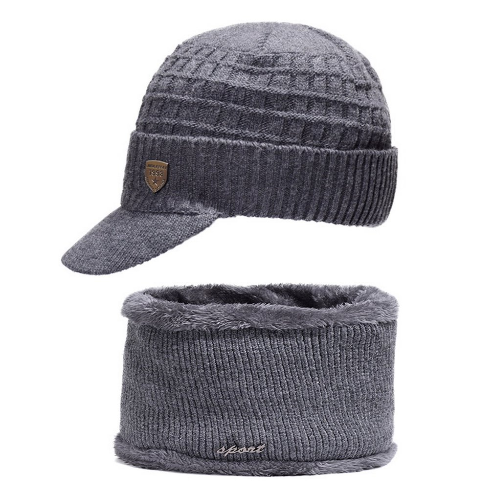 Men's Knit Hat Scarf Winter Warm Cap Wool Hat Outdoor Earmuffs Healthy Breathable Durable Fit For All-Day Wear HOT SALE