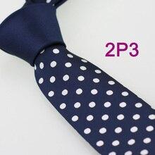 YIBEI coahella галстуки темно-синий узел мужские контрастные галстуки тонкий с белым узором бабочка в горох узкий галстук ЖАККАРДОВЫЙ тканый галстук
