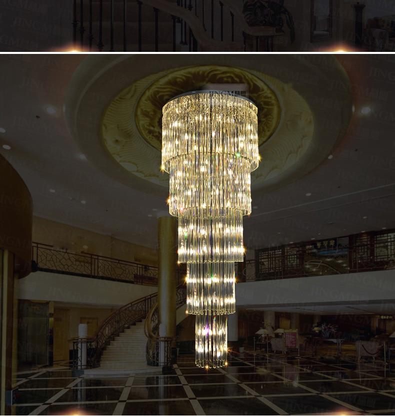 Kristalni luster LED Moderni lusteri za rasvjetu Rasvjetno kućište - Unutarnja rasvjeta - Foto 3