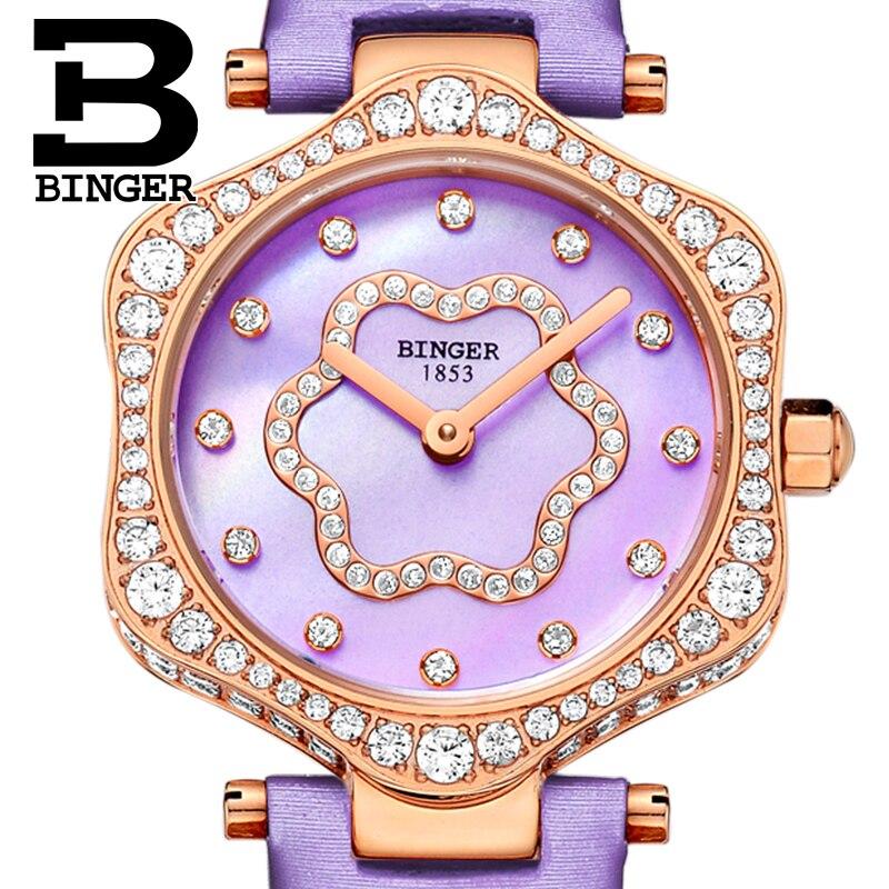Neue Schweiz BINGER frauen Uhren Luxus Marke Quarz Wasserdichte Uhr Frau Sapphire Armbanduhren relogio feminino B1150 8 - 4