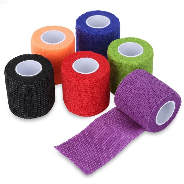 Tattoo Accesories Tattoo Self Adhesive 6 Color Elastic 5CM Wide Sports Tennis Elbow Bandage Nail Tapes Finger Protection Wrap