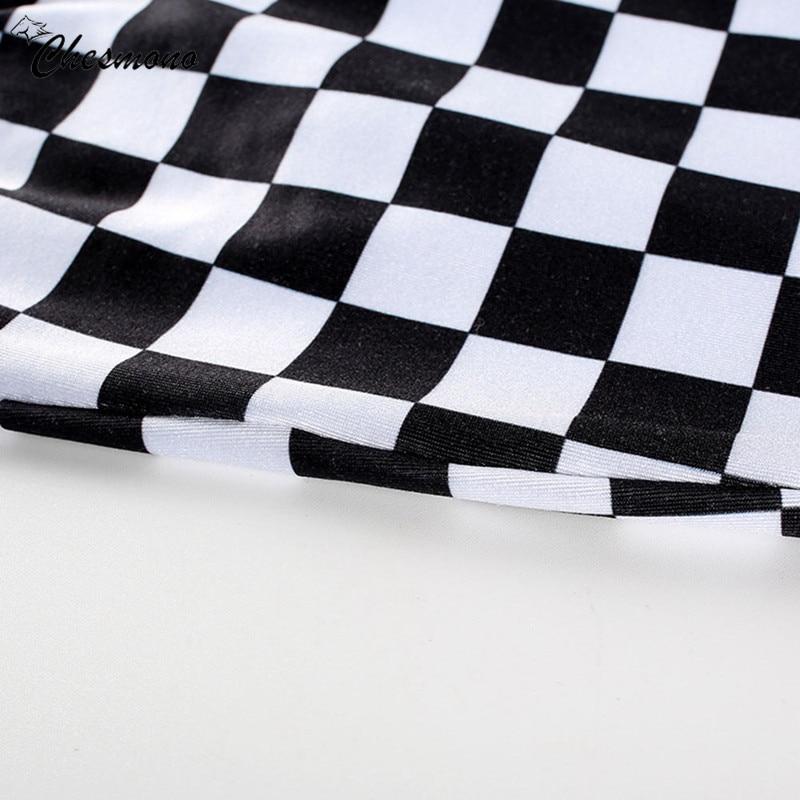 HTB1GYU7XxGYBuNjy0Fnq6x5lpXao - FREE SHIPPING Black&White Plaid Sexy Strapless slim Tube Top Checkboard JKP393