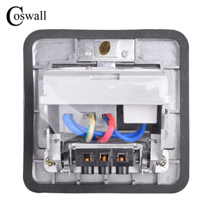 Image 5 - Coswall All Aluminum Silver Panel Pop Up Floor Socket 16A French Standard Power Outlet With USB Charging Port 5V 1A