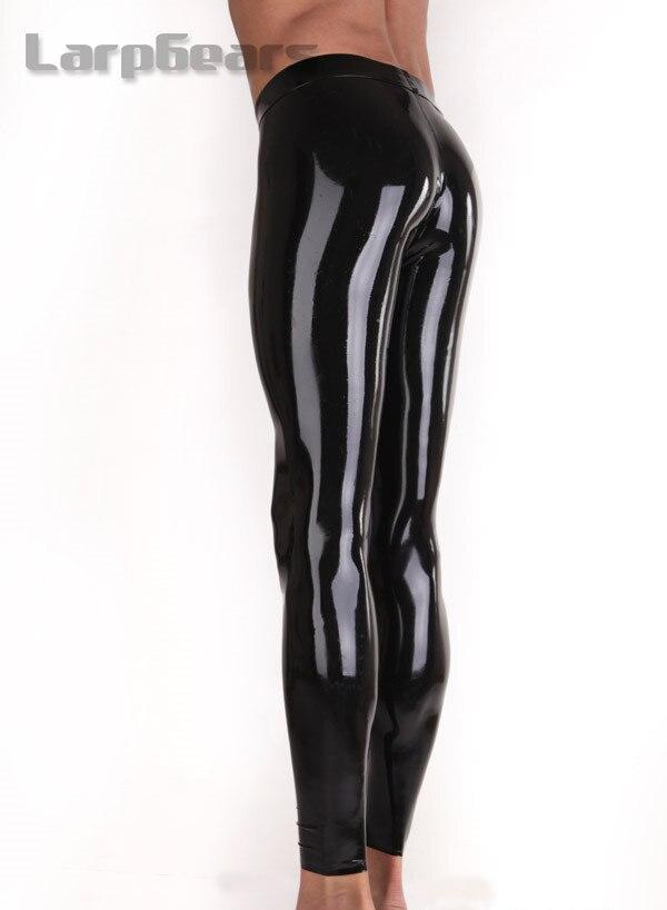 Pantalon en latex fait à la main avec leggings en caoutchouc avec gaine de pénis - 3