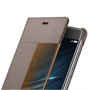 Image 3 - Huawei 社オリジナルスマート電話ケースビューカバー huawei 社 P9 ハウジングスリープ機能インテリジェント電話ケース