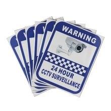Safurance adesivo 70x90mm para câmera de vigilância, aviso cctv, segurança para escritório em casa