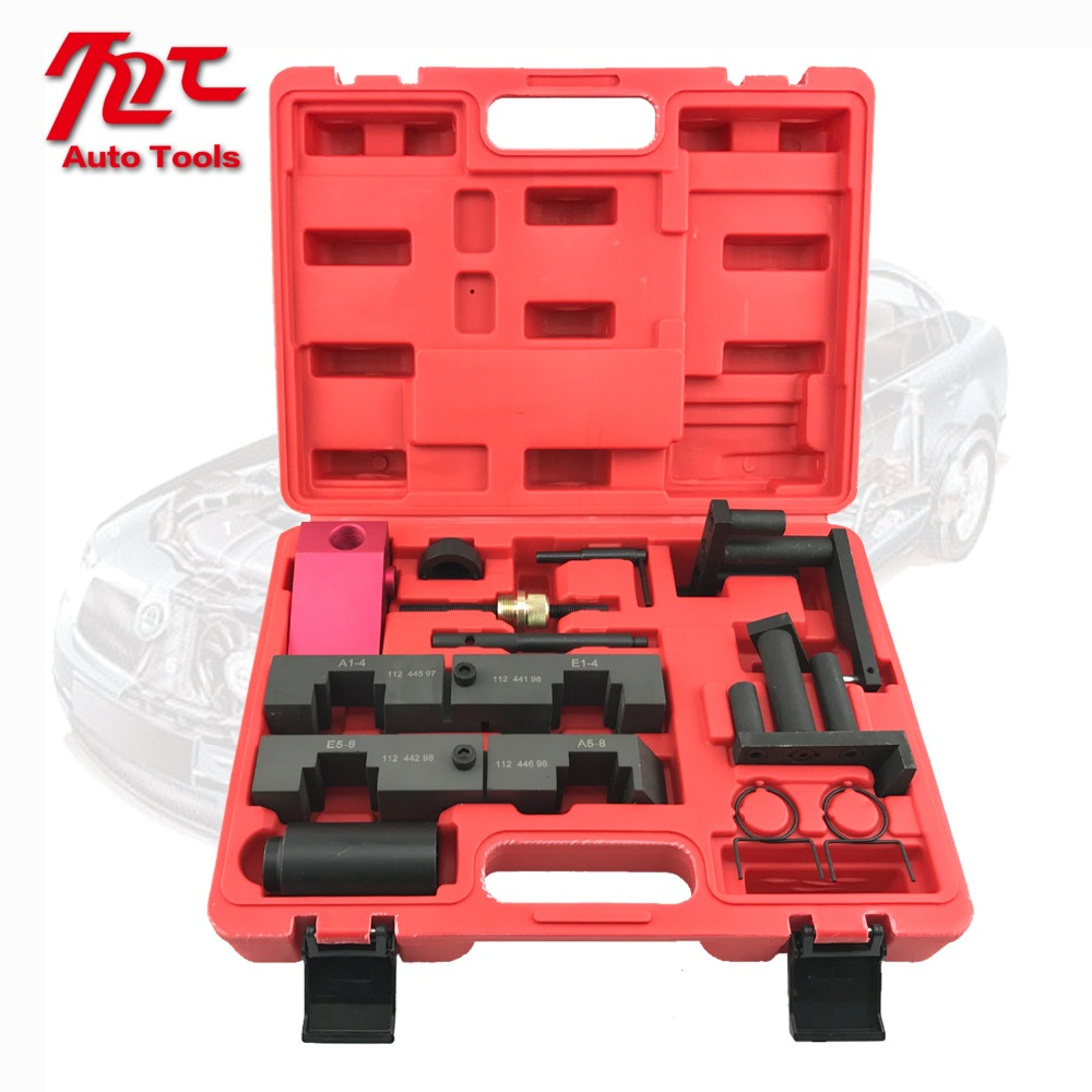 11 PCS Camshaft Locking Tool For BMW M60 M62 M62TU V8 Engine Timing Tool Kit engine camshaft locking setting timing tool kit for land rover jaguar 3 2 3 5 4 0 4 2 4 4 v8 st0232