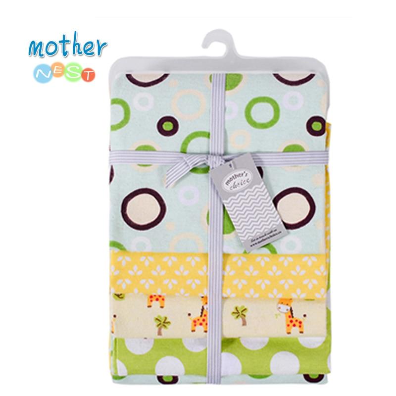 4pcs/lot  4 Count  Baby Newborn Flannel Receiving Blankets Muslin 100% Cotton Flannel Baby Swaddles Soft Newborns Blankets Baby