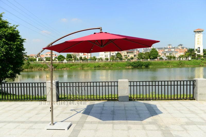 2.7 meter steel iron promotion patio sun umbrella garden parasol sunshade outdoor furniture covers ( no stone base )