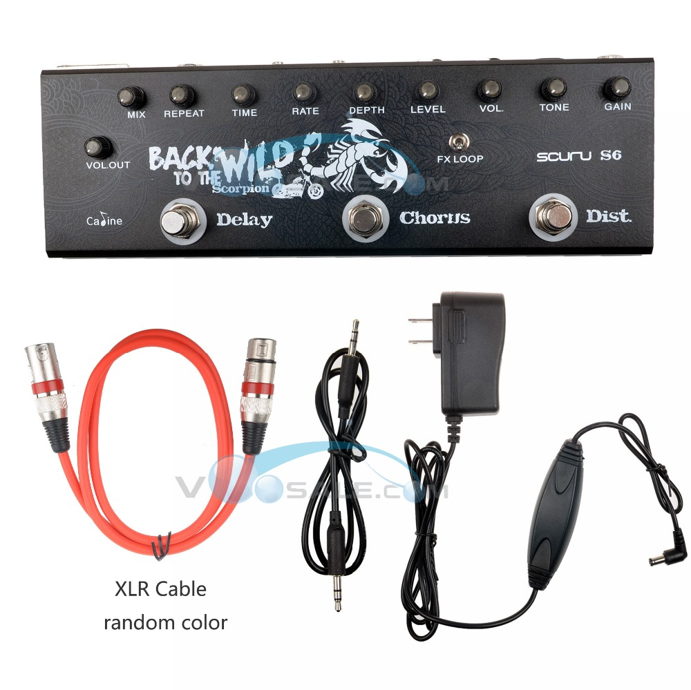 Caline S6 Multi Effect Pedal 9V Guitar Pedal Effect Guitar Accessories Guitar Parts With XLR Cable