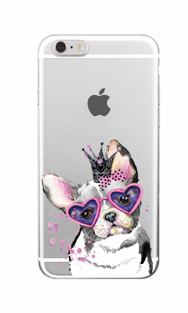 Mickey Minie Mouse Puppy Pug Bunny Cat Princess Meow French Bulldog Soft Phone Case Cover Coque Funda For iPhone 7 7Plus 6 6S 6Plus Samsung