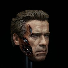 "1/6 Head Sculpt for Muscular Hot Toys T800 Terminator Body for 12"" Action Figure doll Toys"