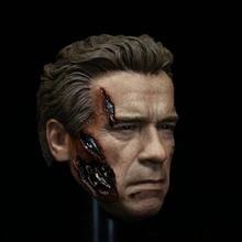 """Figura de acción de Terminator T800 de cabeza a escala 1/6, cuerpo de juguete musculoso de 12"""""""