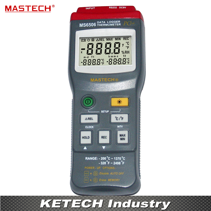 High Accuracy Digital Thermometers Temperature Gathering Table Meter Mastech MS6506 high accuracy mastech ms6506 digital thermometers temperature gathering table meter